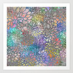 Floral Abstract 3 Art Print by Klara Acel - $18.00