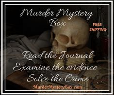 Mystery awaits... Quarterly subscriptions and one-time boxes available. Shipping is on us. MurderMysteryBox.com . . . . . . #mystery #murdermystery #murdermysterybox #mysterybox #murderbox #killerbox #subscription #murdermysterysubscription #subscriptionbox #investigate #adventure #subscribe #detective #clue #evidence #interactive #solve #case #crime #cozymystery #journal #freeshipping #gift #giftideas #adventures #reading #books Reading Books, Free Reading, Cozy Mysteries, Mystery Box, Happenings, Investigations, Detective, Crime, Boxes