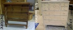 4 the love of wood: FURNITURE MAKEOVER WEEKEND - the after math