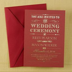 284 best christmas wedding invitations images on pinterest in 2018