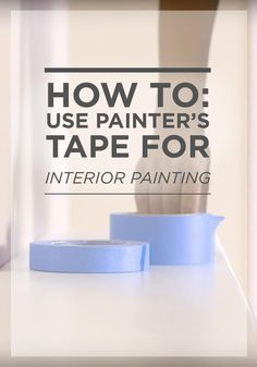Great for sleek edges and clean trim, this home improvement tip for how to use painter's tape for interior painting is perfect for new homeowners and seasoned decorators alike. Now it's easier than ever to add a vibrant shade of BEHR paint.