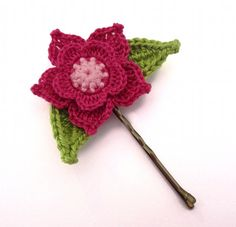 MADE to ORDER  CUSTOMIZABLE  Flower Bobby Pin by GiadaCortellini, $6.25