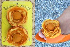 brooch colore giallo oro  clip bijoux per scarpe di Luciana Torre - accessori tessili handmade e ceramica dipinta a mano. Pezzi unici su DaWanda.com