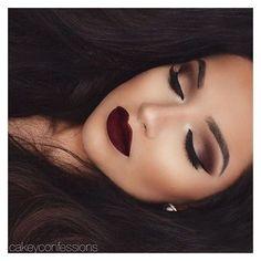 Dramatische Braut Make-up Red Lips Lippenstifte 52 Best Ideas - Wedding Makeup Dramatic Red Lip Makeup, Smokey Eye Makeup, Cute Makeup, Makeup Eyeshadow, Hair Makeup, Eyeliner, Makeup Art, Makeup Brushes, Rimmel Makeup