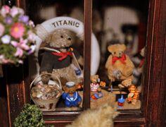 Memories of old and dear friends… Teddy Bear Shop, Bear Toy, Dear Friend, Dollhouse Miniatures, Bears, Artisan, Memories, Toys, Friends