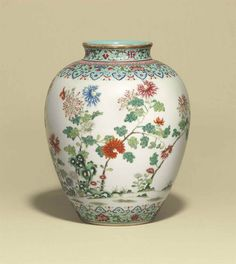 FAMILLE ROSE JAR DAOGUANG SIX-CHARACTER SEAL MARK IN IRON-RED AND OF THE PERIOD (1821-1850) 10 3/8 in. (26.5 cm.) high
