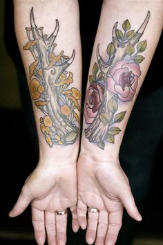 Antlers by Sean Wright at Wonderland Tattoo in Portland,...