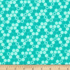 Michael Miller Emma's Garden Honey Hive Turquoise Fabric