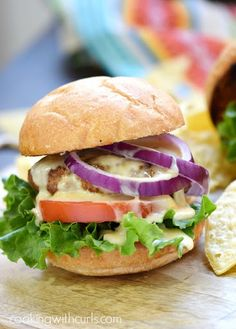 Your mouth is in for a treat with these juicy and delicious Mexican Burgers with Queso Blanco sauce and all of your favorite toppings! Indian Chicken Recipes, Mexican Food Recipes, Dinner Recipes, Ethnic Recipes, Indian Recipes, Diabetic Recipes, Dinner Ideas, Cooking App, Cooking On The Grill