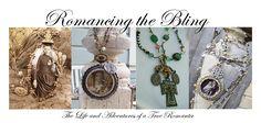 Romancing the Bling: Embelished Soldered Vintage Rhinestone Assemblage Necklace, etc. Vintage Buttons, Vintage Rhinestone, Madonna, Vintage Jewelry, Handmade Jewelry, Soldering Jewelry, Mixed Media Jewelry, Jewelry Making Tutorials, Necklace Designs