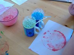 Things to make and do - art: Bubble Painting