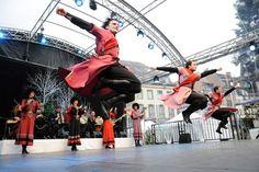 Christmas Balllet at Strasbourg Christmas Ballet géorgien, spectacle inaugural Noël, place Kleber