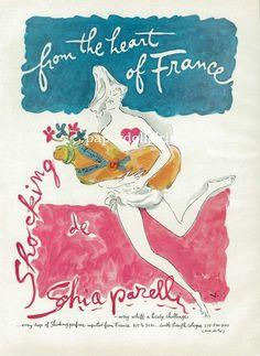 Shocking by Schiaparelli, vintage perfume ad
