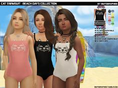 The Sims 4 Cat Swimsuit The Sims 4 Kids, The Sims 4 Bebes, Sims 4 Children, Sims 4 Toddler Clothes, Sims 4 Mods Clothes, Sims 4 Cc Kids Clothing, Sims Four, Sims 3, Die Sims 4 Packs