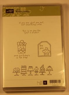 Stampin' Up! – Birthday Bakery (Hostess L1) Clear Mount Stamp Set