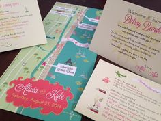 Personalized Wedding Weekend Map 3 fold by cwdesigns2010 on etsy, $370.00 CWS-Designs.com