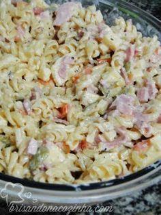 Brisando na Cozinha: Macarrão à pizzaiolo Crock Pot Recipes, Pasta Recipes, Salad Recipes, Cooking Recipes, Fabulous Foods, Food Truck, Carne, Pasta Salad, Food To Make