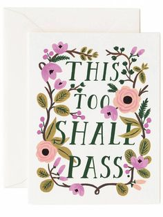 This Too Shall Pass Card | Rifle Paper Co.