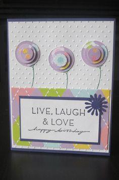 Happy Birthday Cherish Handmade Greeting Card by thepaperdivamum