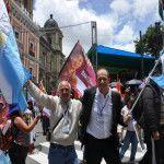 El diputado provincial Oscar Pfeiffer en la asunción de Evo Morales