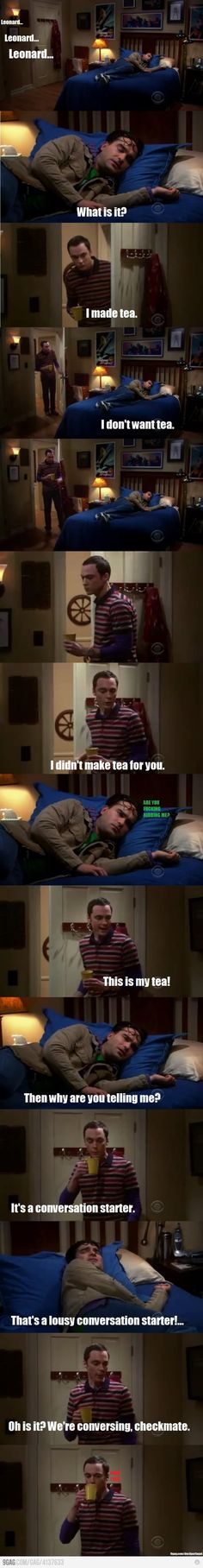 Sheldon being... Sheldon...