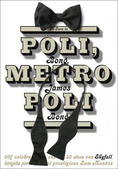 Metrópoli y Bond, Metro Poli Skyfall, Rodrigo Sanchez, Newspaper Front Pages, Publication Design, Graphic Design Typography, Business Card Logo, Editorial Design, Cover Design, Pattern Design