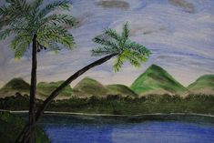 Mountain view Arts And Crafts Supplies, Hand Painting Art, Make Art, Acrylic Art, Mountain View, Hand Painted, Artworks, Art Pieces, Art