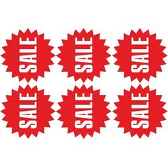 Wall stickers 6 pcs Vinyl for sale sign store sale sale stickers sales decal #Sale