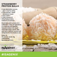 With the launch of IsaLean™ Strawberry Cream Shake at Summer Kick Off, we prepared some scrumptious recipes - such as these Strawberry Protein Balls - to share in the Activity Hub. Due to popular demand, we'll be sharing these recipes with you on ANZ.IsaFYI over the coming weeks - and we want you to share your recipes with us too!