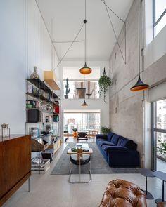 brazilian architecture - interior minimalistic design home Interior Design Inspiration, Home Interior Design, Interior Architecture, Living Room Interior, Living Room Decor, Living Spaces, Sweet Home, Piece A Vivre, Home And Deco