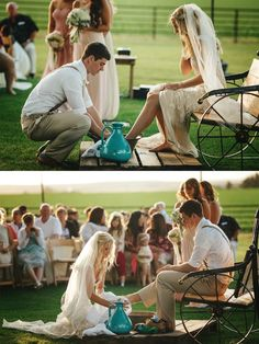 Feet washing ceremony! Absolutely beautiful! Will most definitely happen at my wedding (whenever I get married)