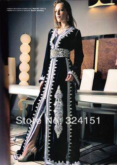 Latest Trend 2014 Kaftan Caftan Dubai Fancy Farasha Abaya jalabiya Islamic Black Champagne  Prom Party Dress Evening Gown Red