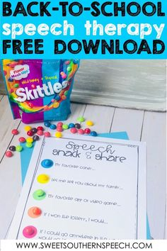 Activities For The First Day Of Speech Therapy - Sweet Southern Speech