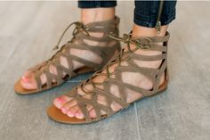 Amazing Lace Up Gladiators PERFECT FOR SPRING OR SUMMER FASHION 53% OFF