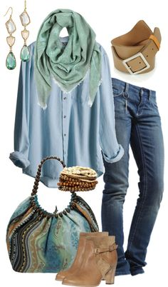 """""""Balmain MInt Green Scarf"""" by simple-wardrobe ❤ liked on Polyvore"""