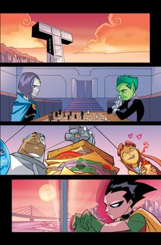 Titan Tower, the HQ of the Teen Titans.