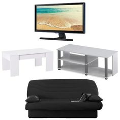 Ensemble banquette clic-clac + TV SAMSUNG Full HD + meuble TV + table basse… http://cdactu.com/post/149836086134/ensemble-banquette-clic-clac-tv-samsung-full-hd