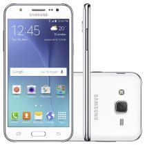 Smartphone Samsung Galaxy J5 Duos 16GB Branco - Dual Chip 4G Câm. 13MP + Selfie 5MP com Flash