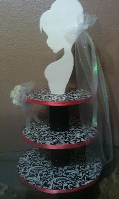 Bride Cupcake Stand Bride Themed Cupcake Stand 5 Tiers