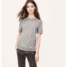 LOFT Petite Embellished Sweatshirt Tee...Tracy has this