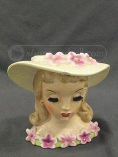 1958 Napco Lady Head Vase