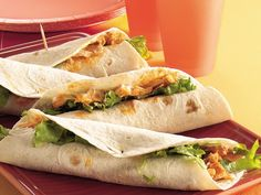 Slow cooker buffalo chicken wraps- meant to make these in like, June, so seeing the recipe again is fate! Must make them.