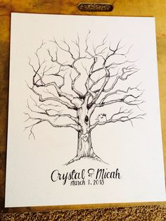 Wedding tree guest book design