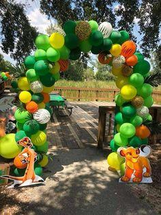 's Birthday / Lion King - Hakuna Matata Luke! at Catch My Party Lion Birthday Party, Lion Party, Lion King Party, Lion King Birthday, Jungle Theme Birthday, 2nd Birthday Party Themes, Baby Boy Birthday, 3rd Birthday, Birthday Ideas