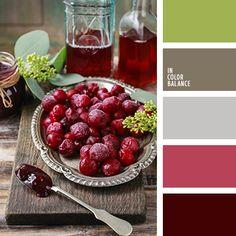 бордовый, винный цвет, винтажные цвета, вишневый, коричневый, подбор пастельных тонов, розовый, салатовый, светло серый, светло-оливковый, серый, цвет вишни, цвет клюквы, яркий салатовый.