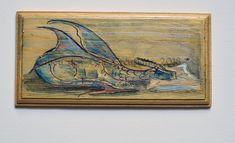 plaque de porte Dragon , chambre d' ami   ;  aquarelle sur bois , vernis Dragons, Painting, Art, Polish, Watercolor Painting, Woodwind Instrument, Art Background, Painting Art, Kunst