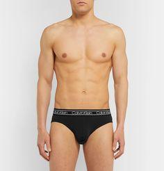 Schiesser Ludwig Three-pack Stretch-cotton Briefs In Gray Calvin Klein Men Underwear, Ludwig, Briefs, Skinny Jeans, Slim, Mens Fashion, Swimwear, How To Wear, Cotton