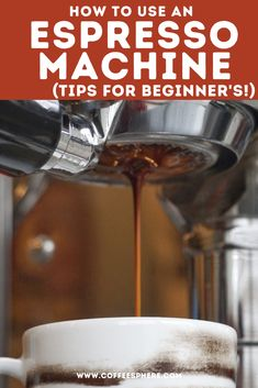 Here's your chance to learn how to use an espresso machine, or brush up on your basic espresso making skills. Coffee Cups, Coffee Maker, Espresso Machine, Being Used, Coffee Maker Machine, Espresso Coffee Machine, Coffee Mugs, Coffee Percolator, Coffee Making Machine
