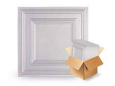 Icon Relief White 2x2 Ceiling Tile (Box of 12)