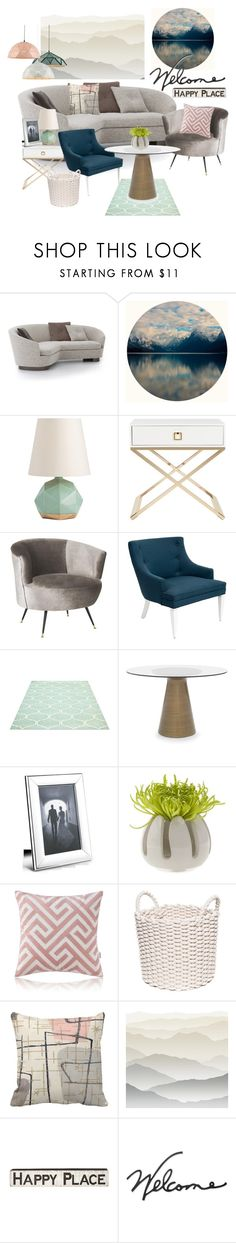 """""""Welcome To A Happy Place"""" by hiddensoulmemories ❤ liked on Polyvore featuring interior, interiors, interior design, home, home decor, interior decorating, Safavieh, Jonathan Adler, Mitchell Gold + Bob Williams and Georg Jensen"""